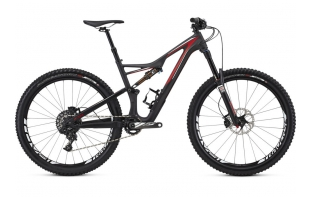 SPECIALIZED Stumpjumper FSR Expert Carbon 650b - CARBON / RED / WHITE