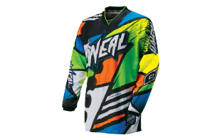 O'NEAL Maillot manches longues Mayhem Lite Glitch - Black Neon