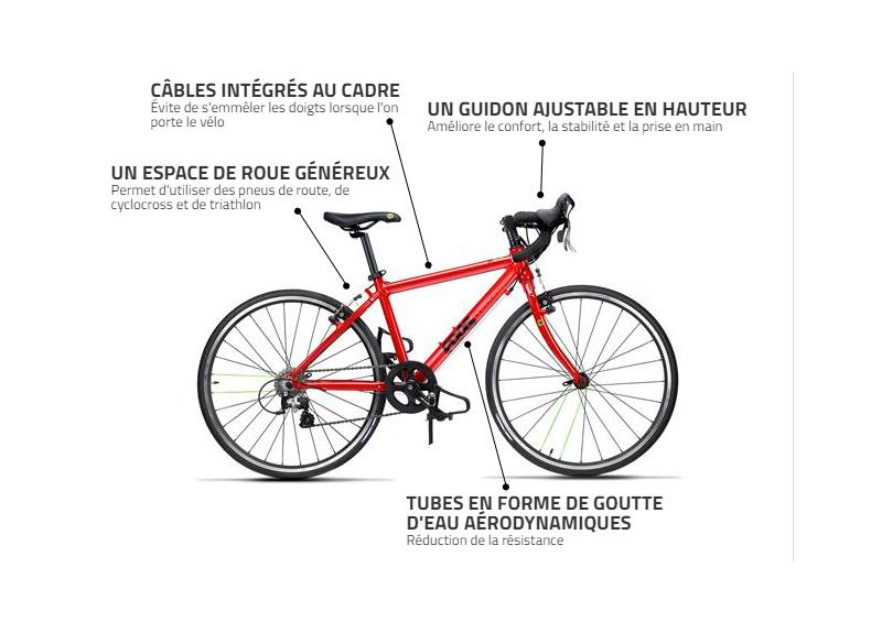 FROG vélo de route 24 pouces ROAD 67 2018 - rouge