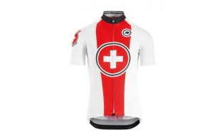 ASSOS MAILLOT MANCHES COURTES SUISSE FED 2018