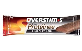 OVERSTIM'S Barre hyperproteïnée Chocolat noir