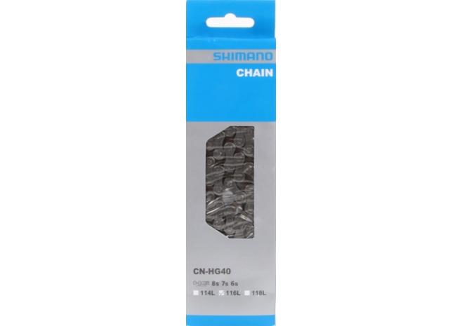 SHIMANO CHAINE HG40 116M 6/7/8V