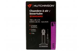 Chambre à air Hutchinson Standard 700 x 28 à 35 (schrader)